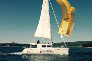 Wingaker und Lagoon Katamaran - Regattasieger!
